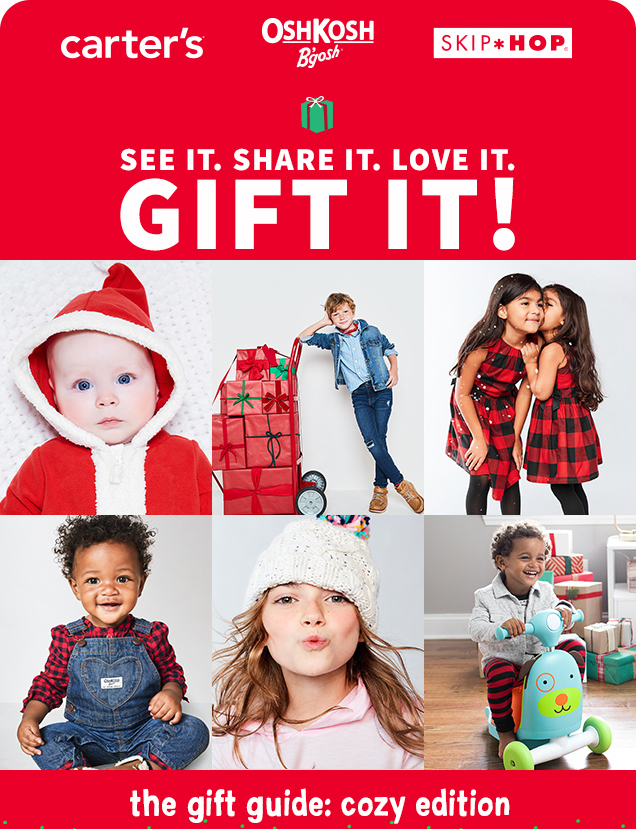 carter's® | OshKosh B'gosh® | SKIP*HOP® | SEE IT. SHARE IT. LOVE IT. GIFT IT! | the gift guide: cozy edition