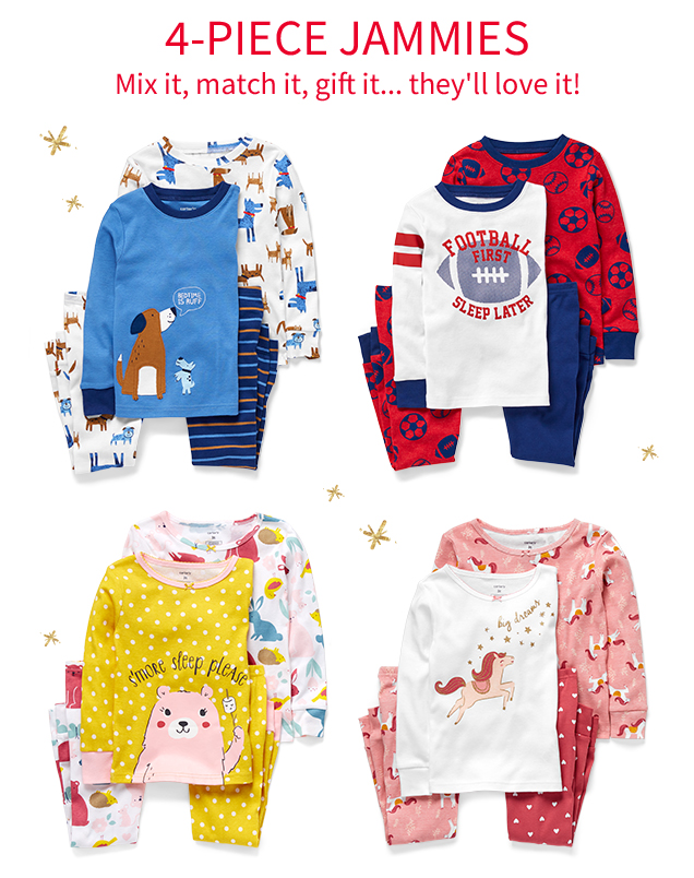 4-PIECE JAMMIES | Mix it, match it, gift it… they'll love it!