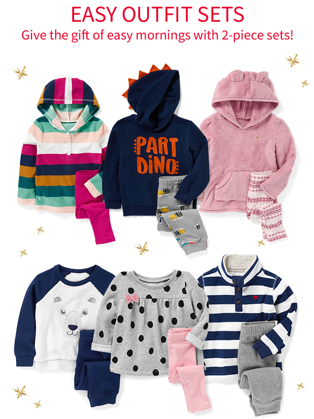 EASY OUTIFITS SETS | Give the gift of easy mornings with 2-piece sets!