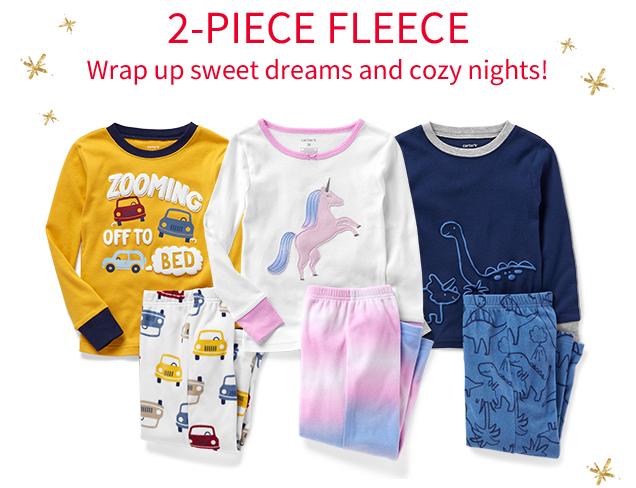 2-PIECE FLEECE | Wrap up sweet dreams and cozy nights!