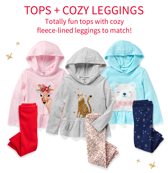 TOPS + COZY LEGGINGS | Totally fun tops with cozy fleece-lined leggings to match!