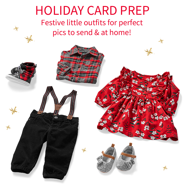 HOLIDAY CARD PREP | Festive little outfits for perfect pics to send & at home!